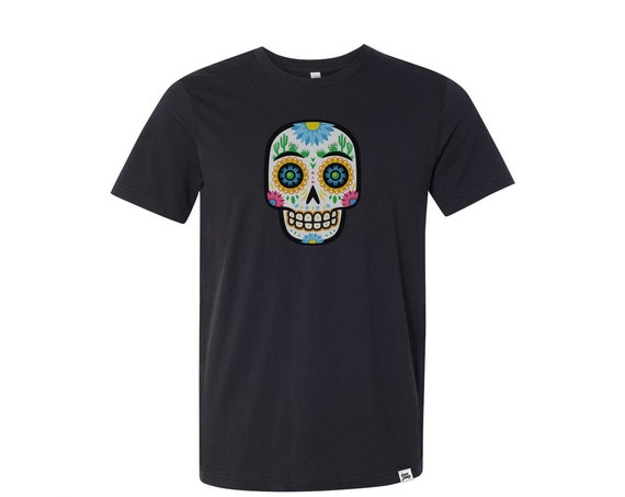 Desert Sugar Skull : Adult's Crew Neck T-Shirt