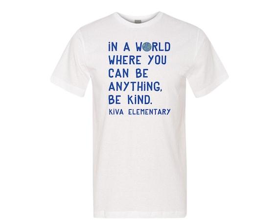 Be Kind Kiva : Unisex Soft Blend T-Shirt