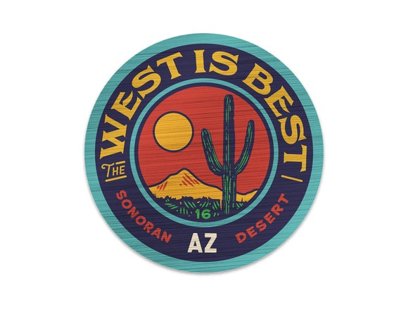 "The West is Best : 3"" Vinyl Sticker"
