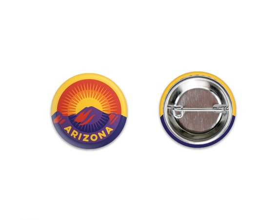 Sunset Over Camelback Pinback Buttons: 1.25""