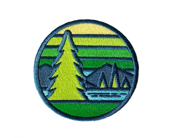 Stained Glass Pinetop : Embroidered Patch