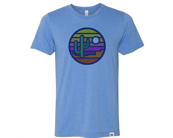 Stained Glass Sunset : Adult Crew Neck T-Shirt