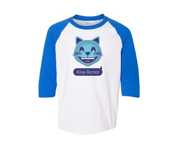 Kiva Cougar Emoji : Unisex Baseball Shirt