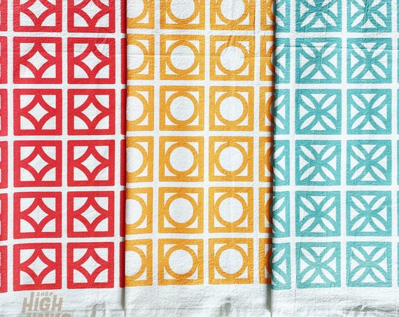 Mid Century Modern Breeze Block : Tea Towels