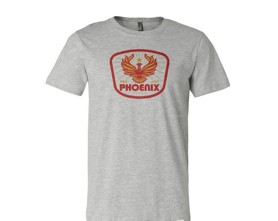 Red Hot Phoenix : Unisex Crew Neck T-Shirt