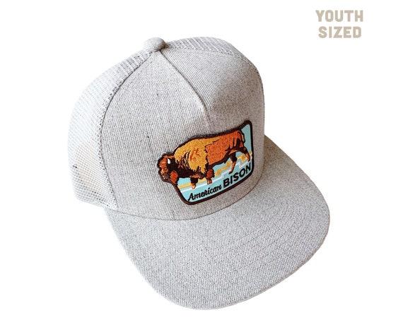 American Bison : KIDS Flat Brim Trucker Hat
