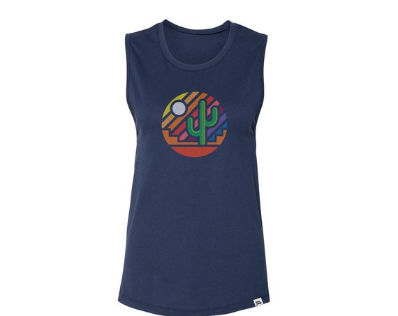 Stained Glass Sunset : Women's Muscle T-Shirt