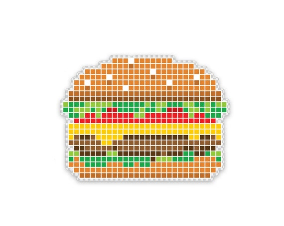 "8 Bite Burger : 3"" Vinyl Sticker"