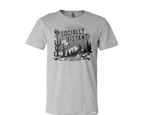 Social Distance : Adult's Crew Neck T-Shirt
