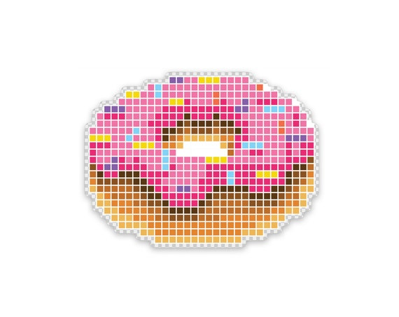 "8 Bite Doughnut : 3"" Vinyl Sticker"