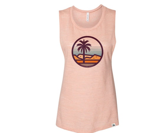 Stained Glass Palm Desert : Women's Muscle T-Shirt