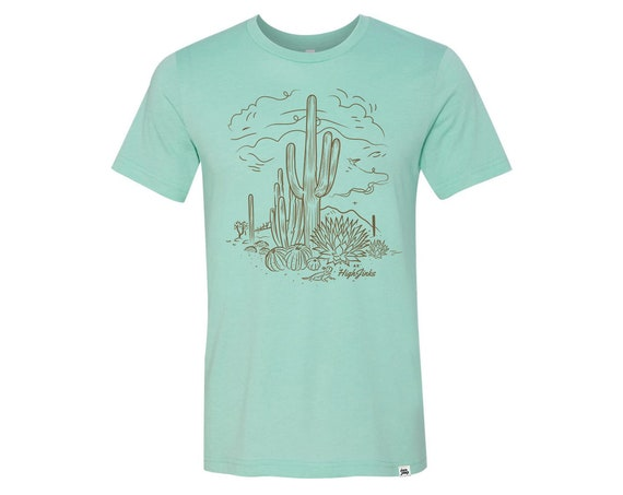 Sketchy Desert: Adult's Crew Neck T-Shirt