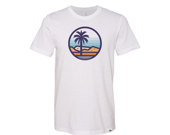 Stained Glass Palm Desert : Adult Crew Neck T-Shirt