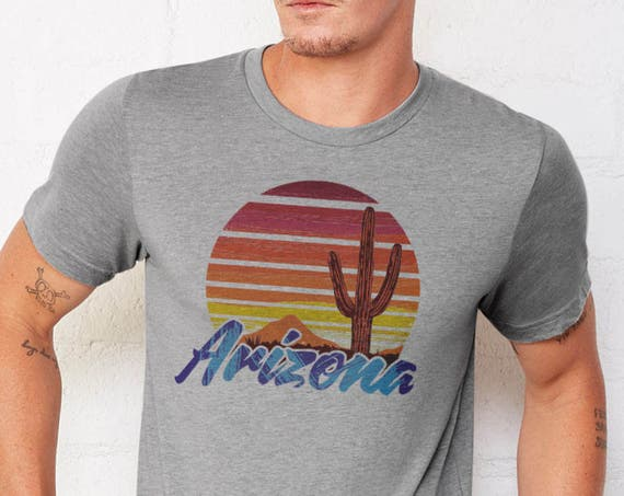 Vintage AZ Sunset: Adult's Crew Neck T-Shirt