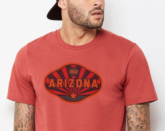Arizona 1912 : Adult's Crew Neck T-Shirt