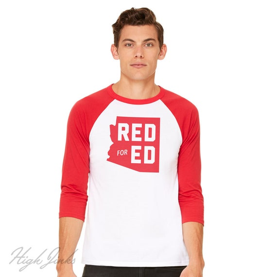 Red for Ed Arizona : Adult's Unisex Soft Baseball Shirt