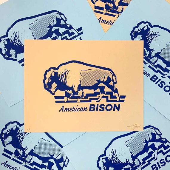 American Bison : 8.5x11 Screenprint