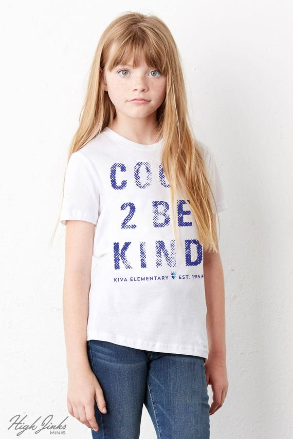 Cool 2 Be Kind : Kid's Unisex Soft Blend T-Shirt
