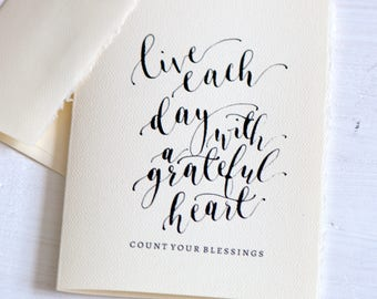 Thanksgiving greeting cards, modern calligraphy cards, Handlettered cards, Holiday greetings cards, Unique cards, For her,Give thanks