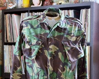"vintage British combat smock camo field jacket, UK anorak size 180-104 / US 40"" 42"""