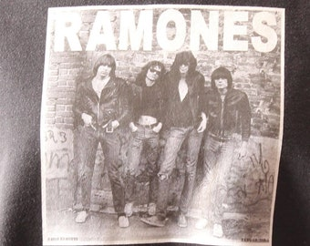 Ramones 1st album heat press transfer iron on for t-shirts, sweatshirts