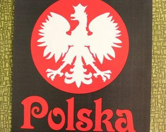 Polska Poland heat press transfer iron on for t-shirts, sweatshirts