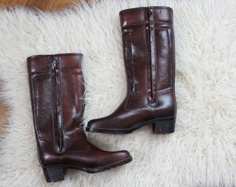 e5feaa559584d womens size 9 vintage rain boots . tall shearling lined rubber galoshes