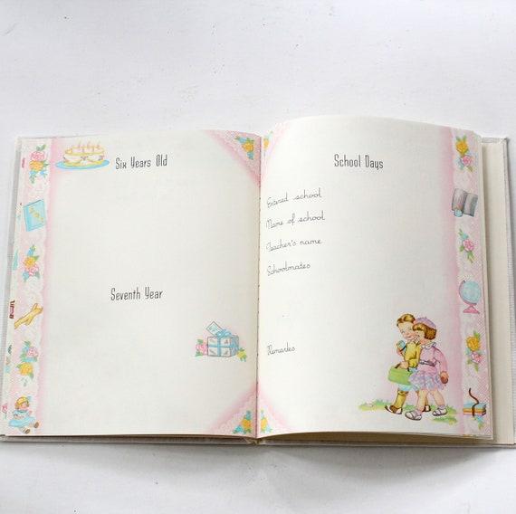 livre vintage pour bébé, disque de bébé notre bébé de /, 1972 édition par C. Junceau - album souvenir dans boîte d'origine 7d2117