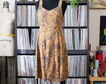 90s vintage rayon sun dress by Bali Batiks, tag size xl