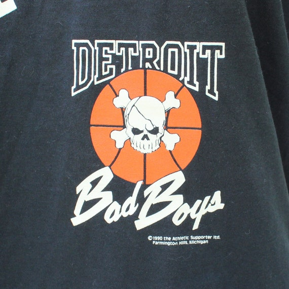 shirt Stars 50 vintage t Boys Bad Screen NBA shirt Pistons Detroit 50 1990 championship wXqRPxX7