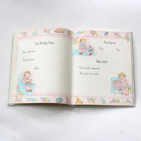 livre vintage pour disque bébé, disque pour de notre bébé /, 1972 édition par C. Junceau - album souvenir dans boîte d'origine f40cf0