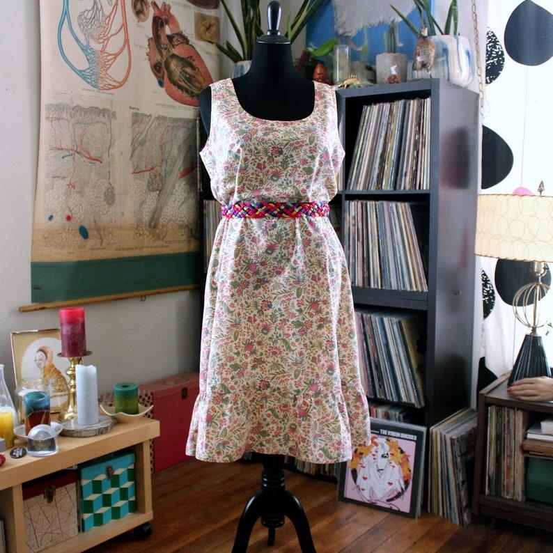 28288723b9 Plus size boho shift dress vintage handmade sundress . arts & | Etsy