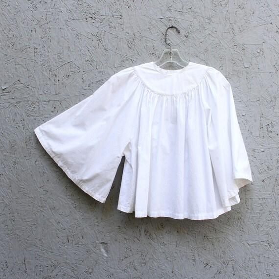 vintage choir robe, crisp white cotton bell angel