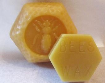 2 Beeswax Blocks, Natural Beeswax, Colorado Beeswax, Honey Smell Beeswax, Natural wax, Beeswax Sample Wax, Natural Candle Wax
