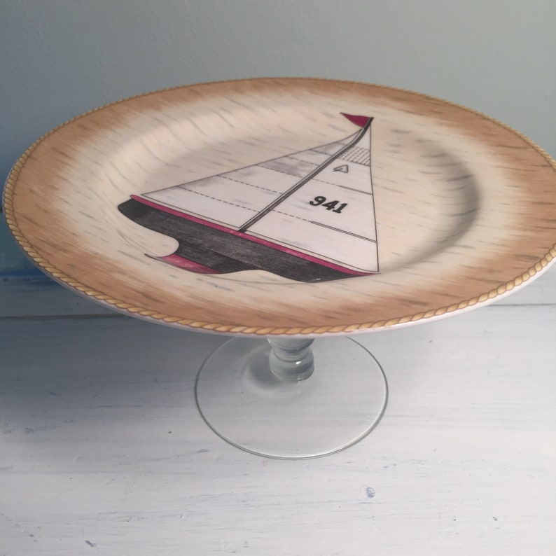 Sailboat Plate  Cake stand