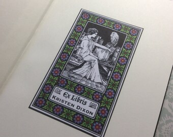 Made to order -  30 Personalized Custom bookplate Ex Libris Sticker Adhesive - Protect your library!  free usa ship