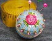 Made to order - to order Tearoses Small size Bottlecap Pincushion free usa ship