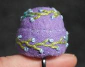 FREE SHIP Mini Bottlecap Pincushion with adjustable ring
