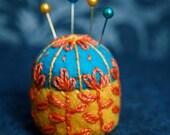 Made to order - Scandinavian flower bottlecap pincushion made to order
