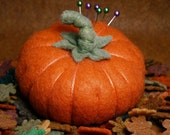 Made to order - Custom made Fall Pumpkin Pincushion made to order free usa ship