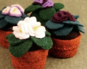 Made to order - African violet Small bottlecap pincushion  free usa ship