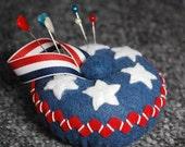 Made to order - Medium Americana Pincushion  free usa ship