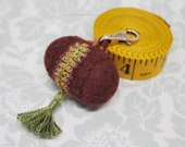 Made to order Maroon Laurel Double Small Bottlecap pendant wearable chatelaine pincushion