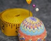IN STOCK free US ship - Springtime small Bottlecap Pincushion free usa ship