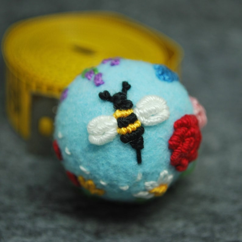 Made to order  Bee's Delight small bottle cap pincushion image 0