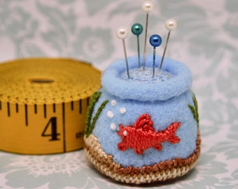 Made to order - Goldie's Delight small bottle cap pincushion  free usa ship