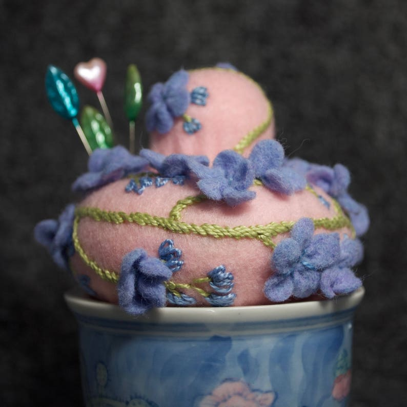 IN STOCK free US ship  Porcelain Potted Pincushion image 0