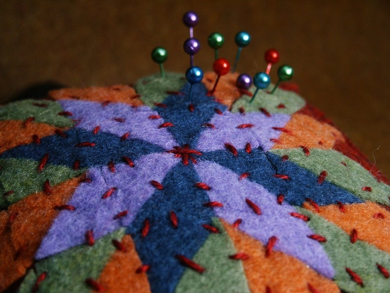 Made to order  Quilter's Square Extra Large Pincushion image 0