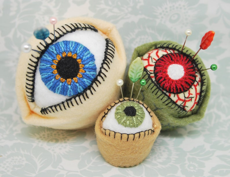 Made to order  The Original Eyeball Bottlecap Pincushion  image 0
