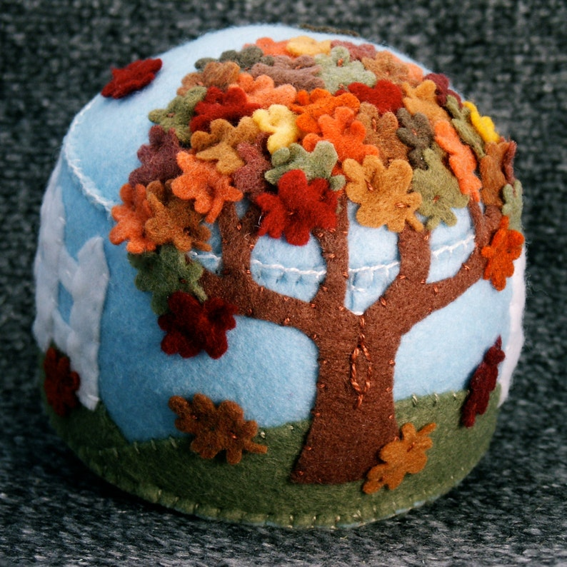 Made to order  Falling Leaves Pincushion Custom  free usa image 0